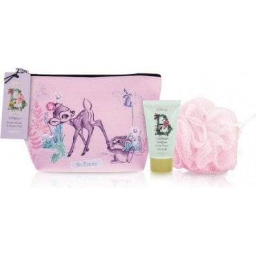 Bambi Body Wash, Bath Puff and Wash Bag Set -1pc