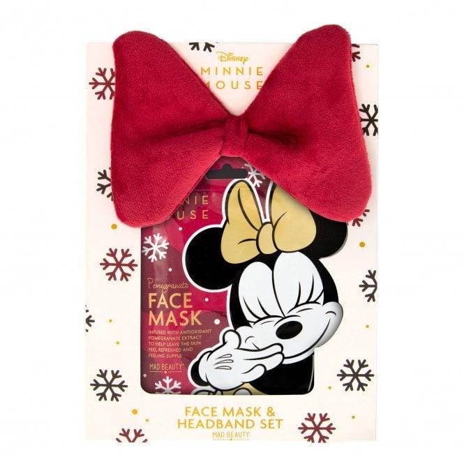 Disney Minnie Burgundy Face Mask & Headband Set