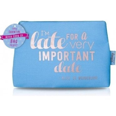 NGU Quotes Cosmetic Bag Blue - I'm Late for an important date