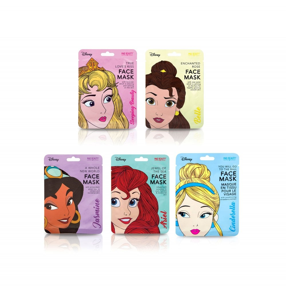 69e68d3e818 Disney Princess Face Mask - pk of 1 - Gifts from Mad Beauty Ltd UK