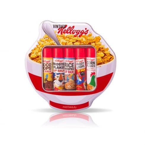 Kellogg's Vintage 5 Lip Balms in Cereal Tin