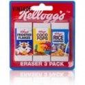 Kellogg's Vintage Eraser Trio Set