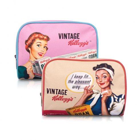 Kellogg's Vintage Kellogg's 50s Vintage Make Up Bags