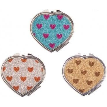 Glitter Heart Mirrors