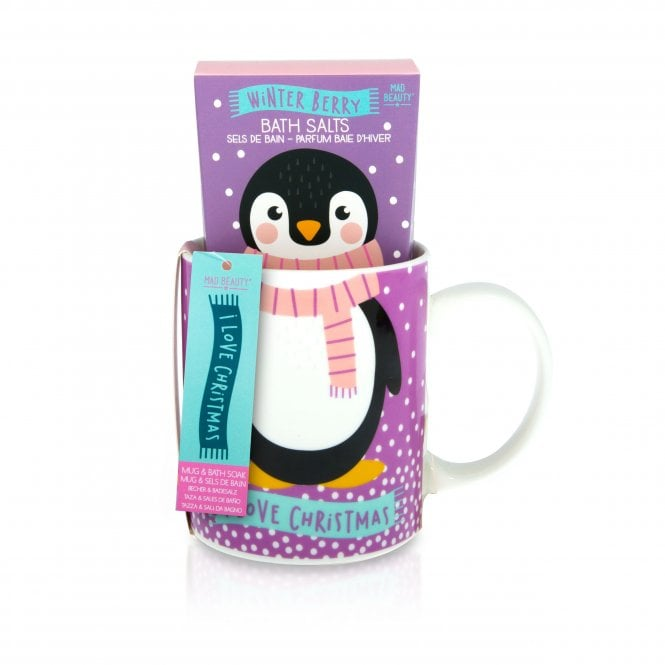 MAD Beauty I Love Christmas Mug & Bath Set 1pc