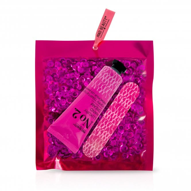 MAD Beauty Pink Sequin Hand Care Set - 1pc