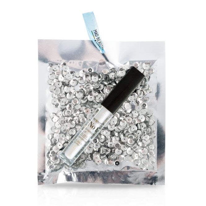 MAD Beauty Silver Sequin Lip Gloss - 1pc