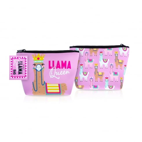 MAD Beauty Llama Queen Cosmetic Bag 1pc