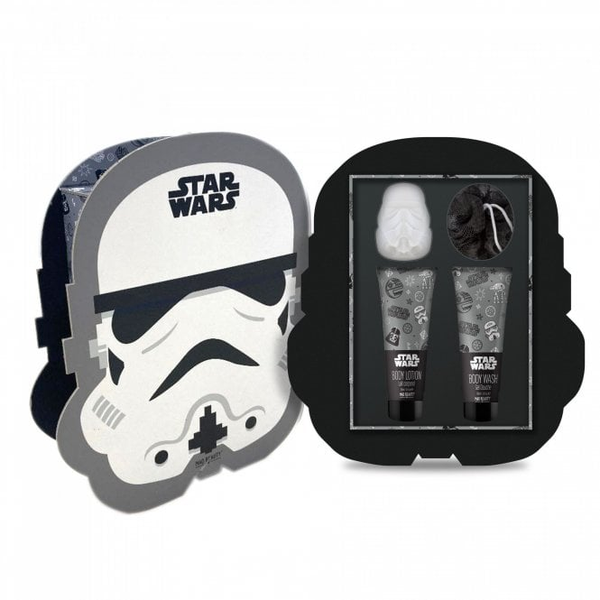 Star Wars Storm Trooper Gift set with puff,body wash, lotion, fizzer